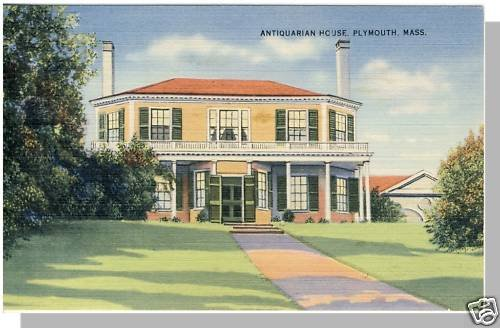 Nice PLYMOUTH, MASS/MA POSTCARD, Antiquarian House