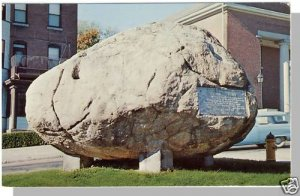 FITCHBURG, MASS/MA POSTCARD, Rollstone Boulder, Commons