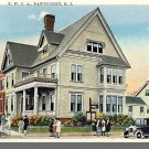 Early PAWTUCKET, RHODE ISLAND/RI POSTCARD, YWCA