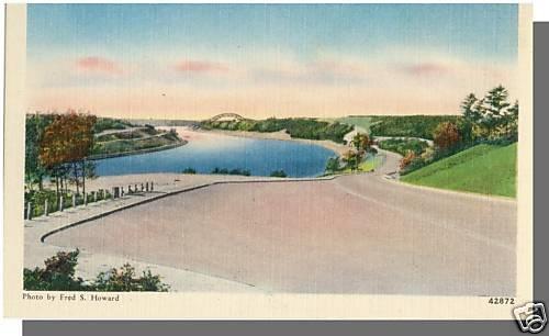 BOURNE BRIDGE, MASS/MA POSTCARD, Cape Cod Highway