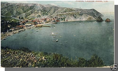 Early AVALON,CALIF/CA POSTCARD, Catalina Island, 1916!