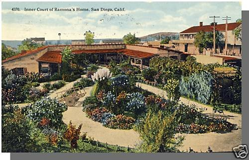 Early SAN DIEGO CALIF/CA POSTCARD, Ramona's Home, 1915!