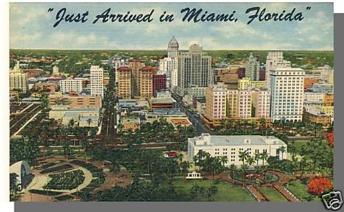 Nice MIAMI, FLORIDA/FL POSTCARD, Just Arrived In Miami