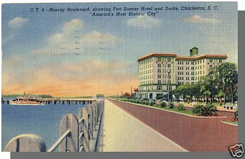 CHARLESTON, SOUTH CAROLINA/SC POSTCARD,Frt Sumter Hotel