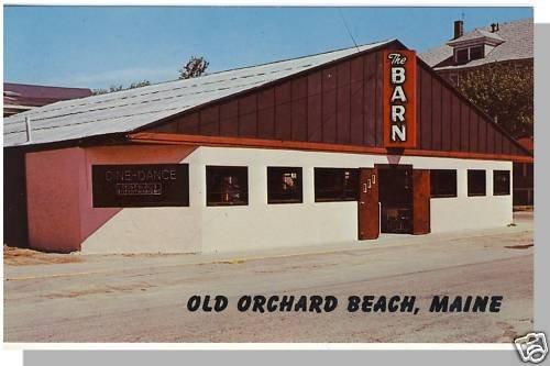 OLD ORCHARD BEACH, MAINE/ME POSTCARD,The Barn Nightclub
