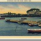 MARION, MASS/MA POSTCARD, Waterfront,Cape Cod,Near Mint