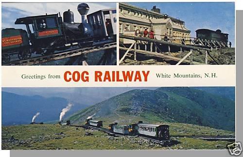 WHITE MOUNTAINS, NEW HAMPSHIRE/NH POSTCARD ,Cog Railway