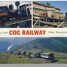 WHITE MOUNTAINS, NEW HAMPSHIRE/NH POSTCARD ,Cog Railway