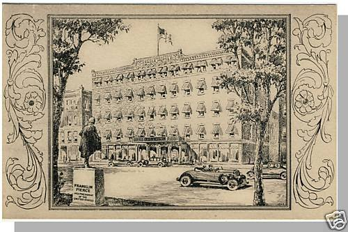 Early CONCORD NEW HAMPSHIRE/NH POSTCARD, Eagle Hotel
