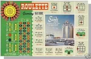 LAS VEGAS, NEVADA/NV POSTCARD, Sands Hotel/Roulette