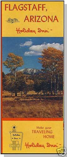 HOLIDAY INN BROCHURE & POSTCARD, Flagstaff, Arizona/AZ