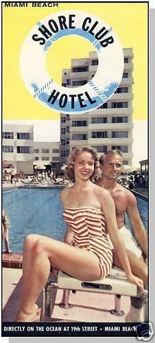 SHORE CLUB HOTEL BROCHURE, Miami, Florida/FL, 1950's?