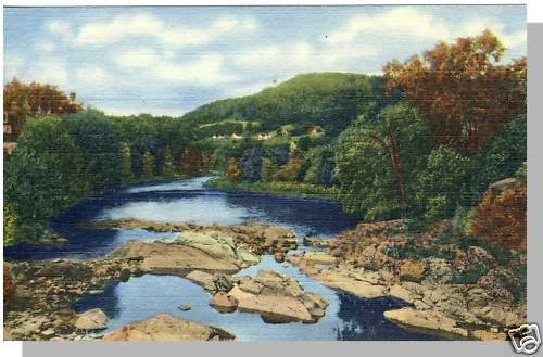 NEW HAMPSHIRE/NH POSTCARD, Ammonoosuc River/White Mnts