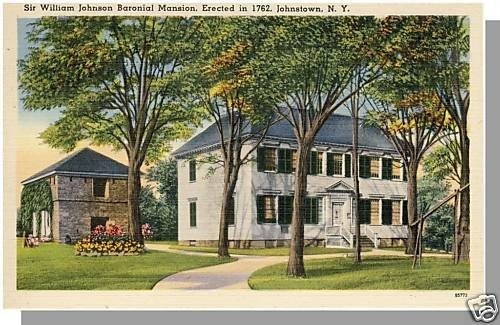 JOHNSTOWN, NEW YORK/NY POSTCARD,William Johnson Mansion