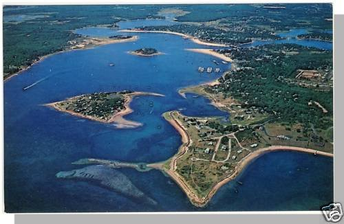 ONSET, MASS/MA POSTCARD,Village & Beach/Cape Cod/Aerial
