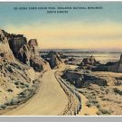 BADLANDS, SOUTH DAKOTA/SD POSTCARD, Cedar Pass/Monument