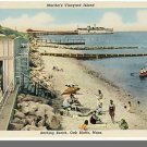 OAK BLUFFS, MASS/MA POSTCARD,  Beach, Martha's Vineyard