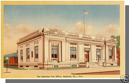 Nice HAZLETON, PENNSYLVANIA/PA POSTCARD, Post Office