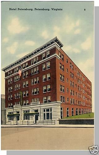 PETERSBURG, VIRGINIA/VA  POSTCARD, Hotel Petersburg