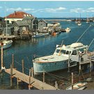 Nice MENEMSHA, MASS/MA POSTCARD, Harbor/Basin, Cape Cod