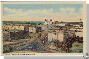 ISLETA PUEBLO, NEW MEXICO/NM POSTCARD, Rio Grande Pueblo