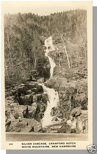 WHITE MOUNTAINS, NEW HAMPSHIRE/NH POSTCARD, Crawford Notch