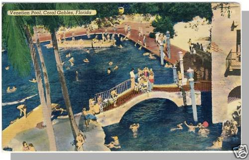 CORAL GABLES, FLORIDA/FL POSTCARD, Venetian Pool, 1956