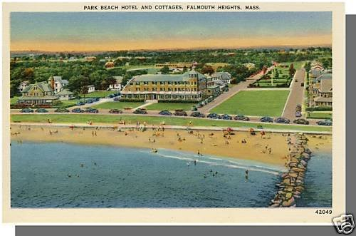 FALMOUTH HEIGHTS, MASS/MA POSTCARD, Park Beach Hotel