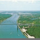 Nice CAPE COD, MASS/MA POSTCARD, Bourne Bridge Aerial