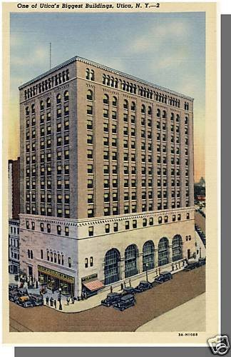 Early UTICA, NEW YORK/NY POSTCARD, Downtown Building