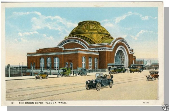 TACOMA, WASHINGTON/WA POSTCARD, Union Depot, 1920's?