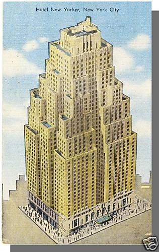 Stunning NEW YORK/NY POSTCARD, Hotel New Yorker