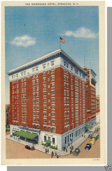 Nice SYRACUSE, NEW YORK/NY POSTCARD, The Onondaga Hotel