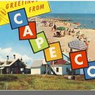 GREETINGS FROM CAPE COD, MASS/MA POSTCARD, Lighthouse