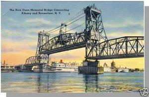 ALBANY, NEW YORK/NY POSTCARD, Dunn Memorial Bridge