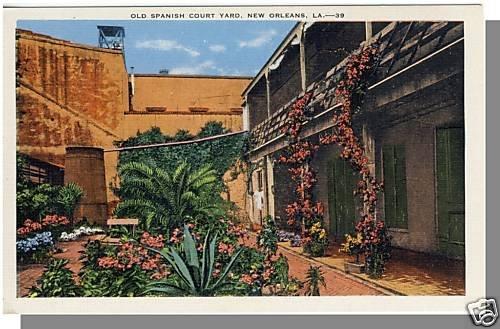 NEW ORLEANS, LOUISIANA/LA POSTCARD, Spanish Court Yard