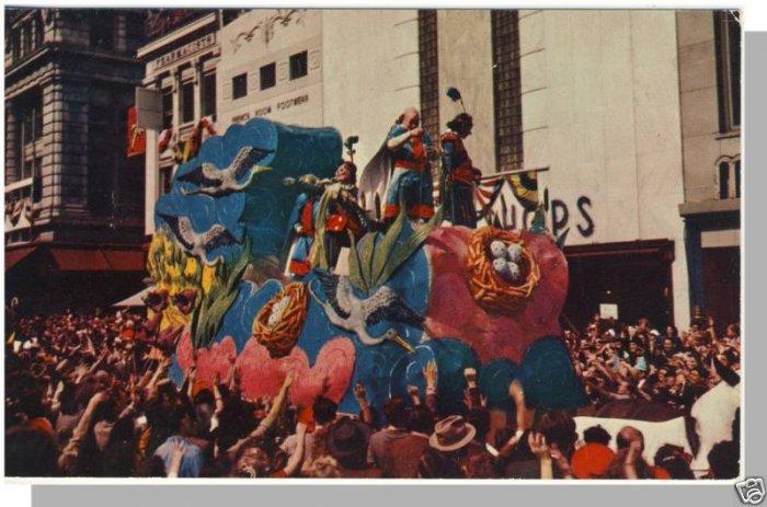 Festive NEW ORLEANS, LOUISIANA/LA POSTCARD, Mardi Gras