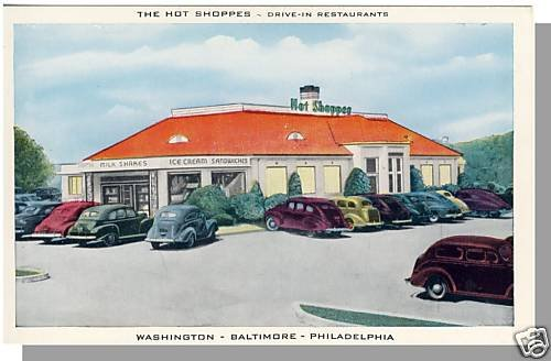 HOT SHOPPES DRIVE-IN RESTAURANT POSTCARD,Washington, DC