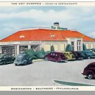 HOT SHOPPES DRIVE-IN RESTAURANT POSTCARD,Washington, DC