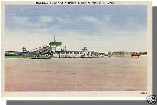 MARTHA'S VINEYARD, MASS/MA POSTCARD, Airport, Cape Cod