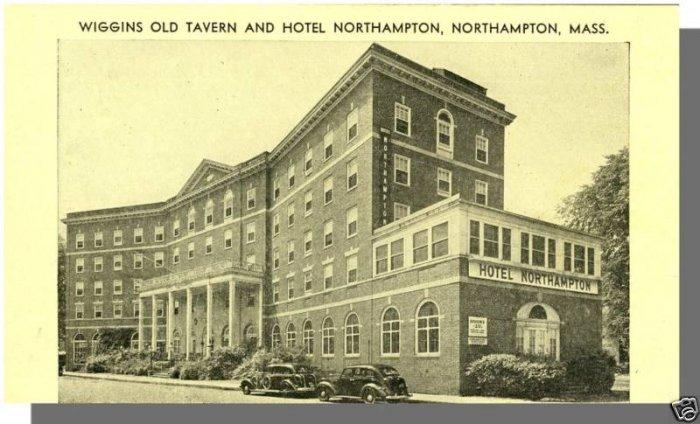 Early NORTHAMPTON, MASS/MA POSTCARD,Wiggins Tavern/Hotel