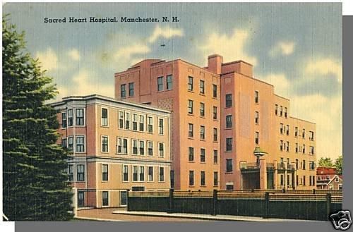 MANCHESTER, NEW HAMPSHIRE/NH POSTCARD,Sacred Heart Hosp