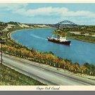 CAPE COD CANAL, MASS/MA POSTCARD,Bourne/Sagamore Bridge