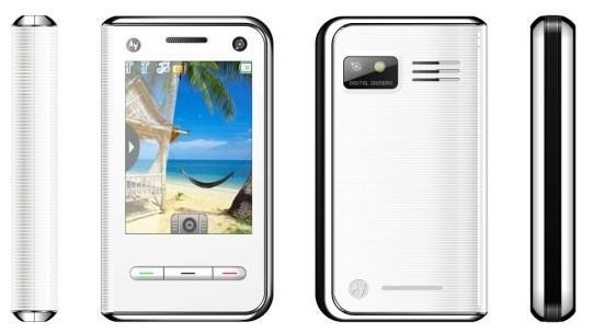 White Color H710 Unlocked Cell Phone AT&T-Mobile Dual SIM Quad band Mobile Phone (Free Shipping)