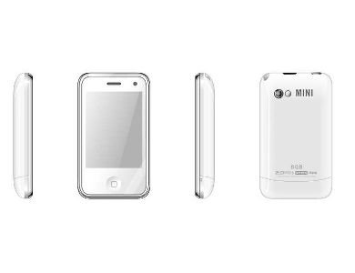 White Color H108 Unlocked Cell Phone AT&T-Mobile Dual SIM Quad band Mobile Phone (Free Shipping)