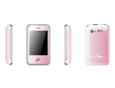 Pink Color H108 Unlocked Cell Phone AT&T-Mobile Dual SIM Quad band Mobile Phone (Free Shipping)