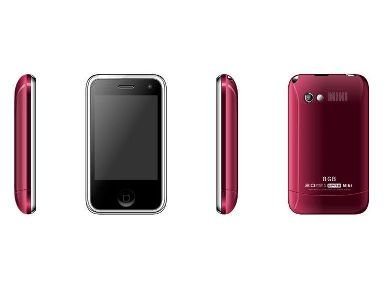 Red Color H108 Unlocked Cell Phone AT&T-Mobile Dual SIM Quad band Mobile Phone (Free Shipping)