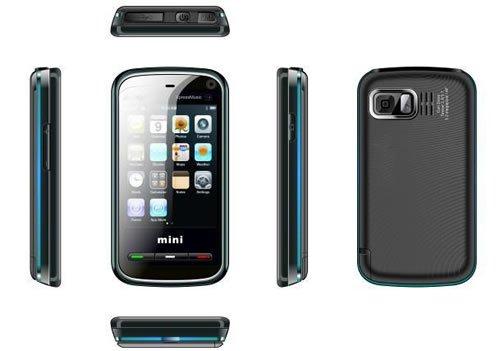Black Color KA09 Mini 5800 Unlocked Cell Phone AT&T-Mobile Phone Dual SIM Quad band (Free Shipping)