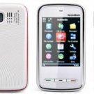 White Color KA09 Mini 5800 Unlocked Cell Phone AT&T-Mobile Phone Dual SIM Quad band (Free Shipping)