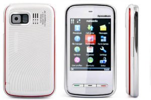 White Color KA09 Mini 5800 Unlocked Cell Phone AT&T-Mobile Phone Dual SIM Quad band (Free Shipping)